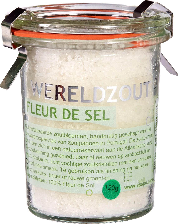 Biologische Esspo Wereldzout Fleur de Sel 120 gr