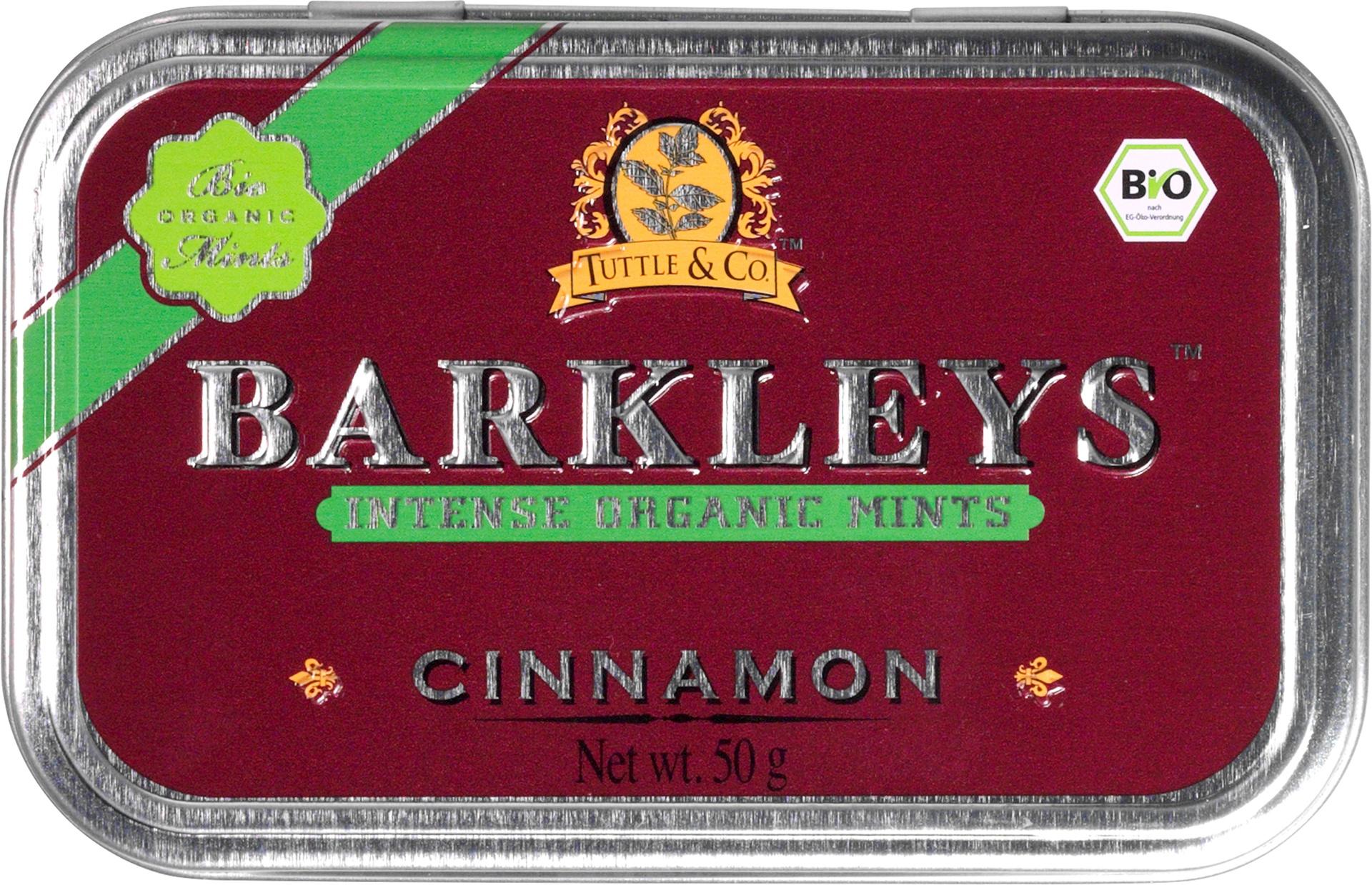Biologische Barkleys Cinnamon mints 50 gr