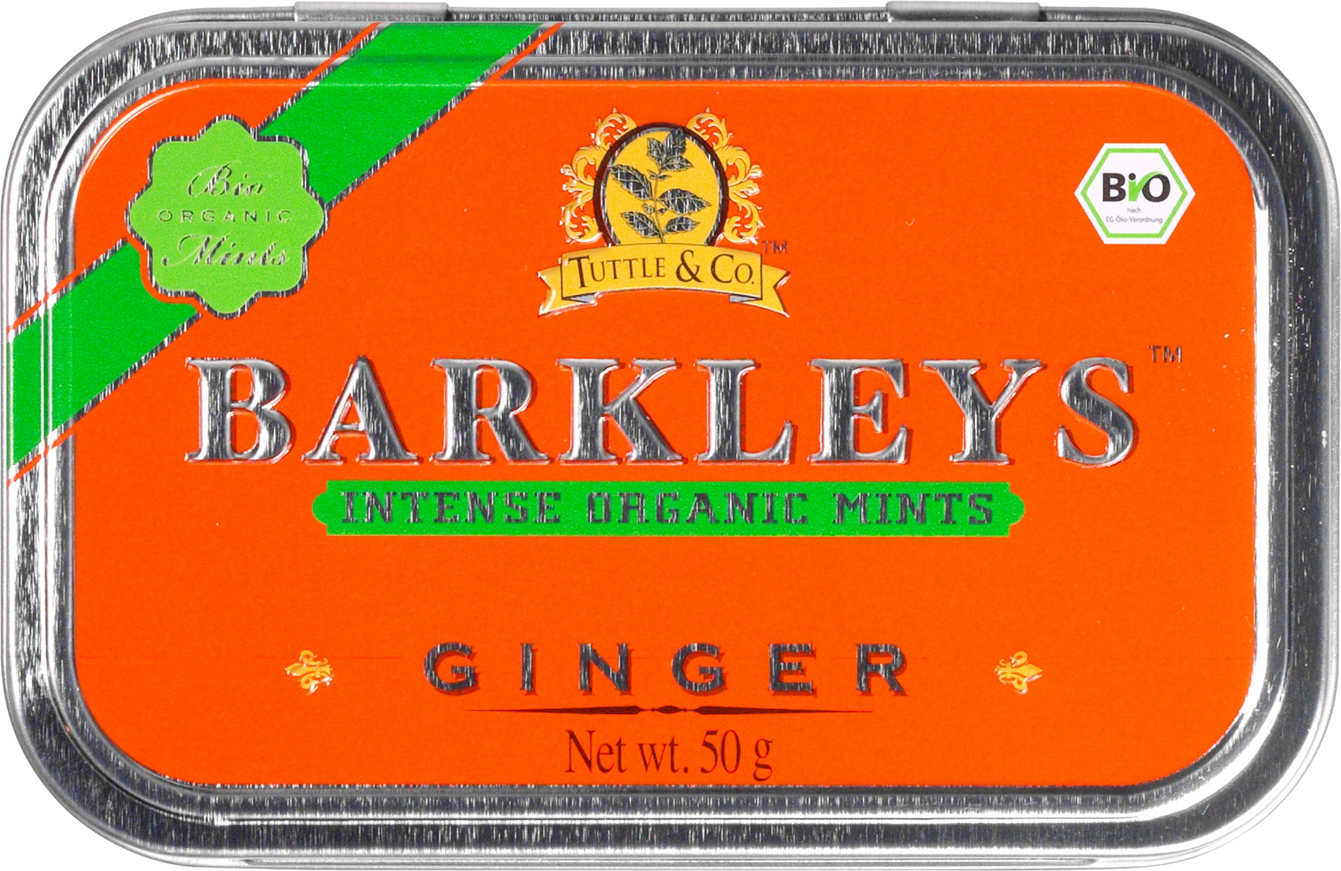 Biologische Barkleys Ginger mints 50 gr