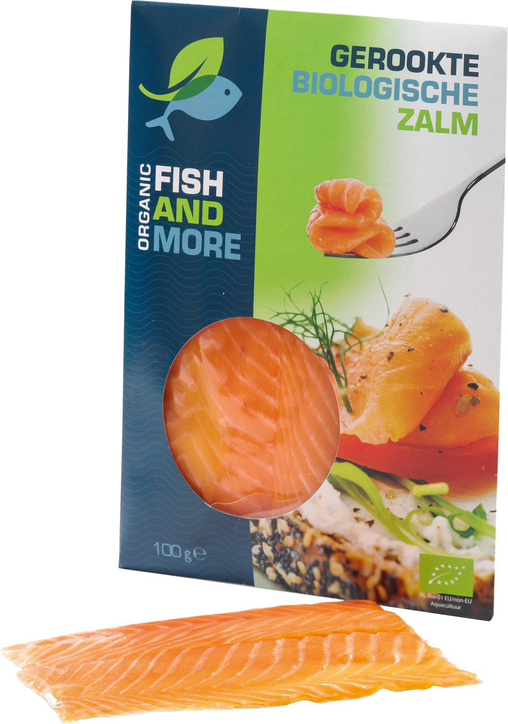 Biologische Fish and More Gerookte zalm 100 gr
