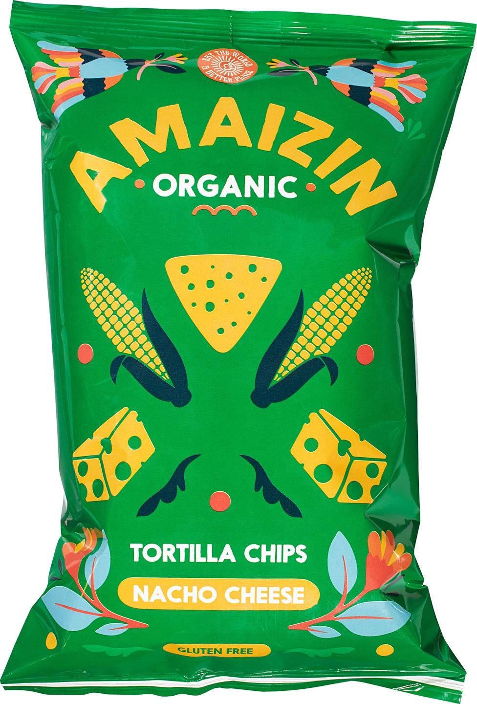 Biologische Amaizin Corn chips nacho 150 gr