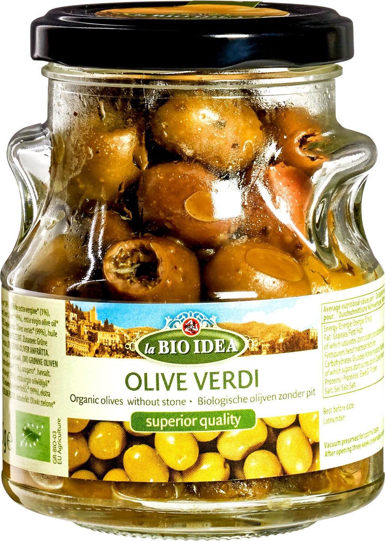 Biologische La Bio Idea Groene olijven pitloos 180 gr