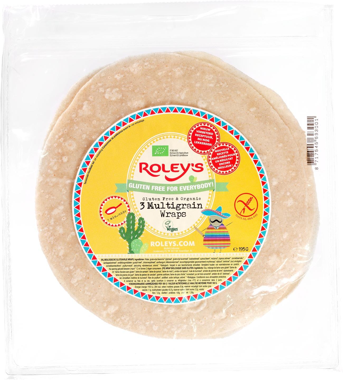 Biologische Roley's Meergranen wraps glutenvrij 195 gr