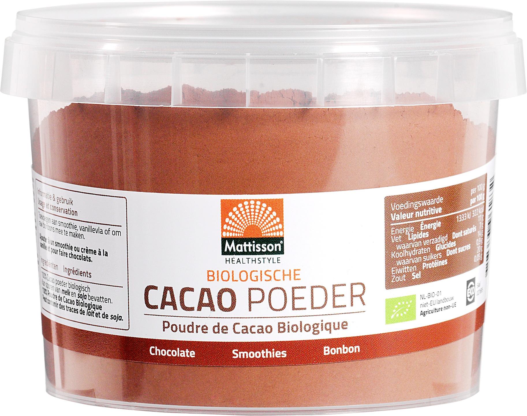 Biologische Mattisson Cacaopoeder 100 gr