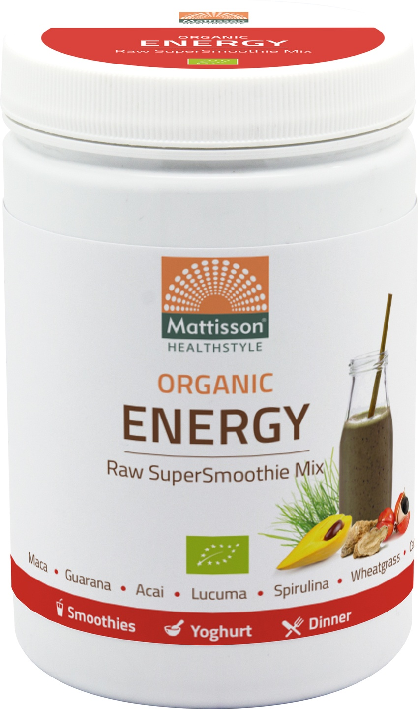 Biologische Mattisson Supersmoothie raw energy mix 300 gr