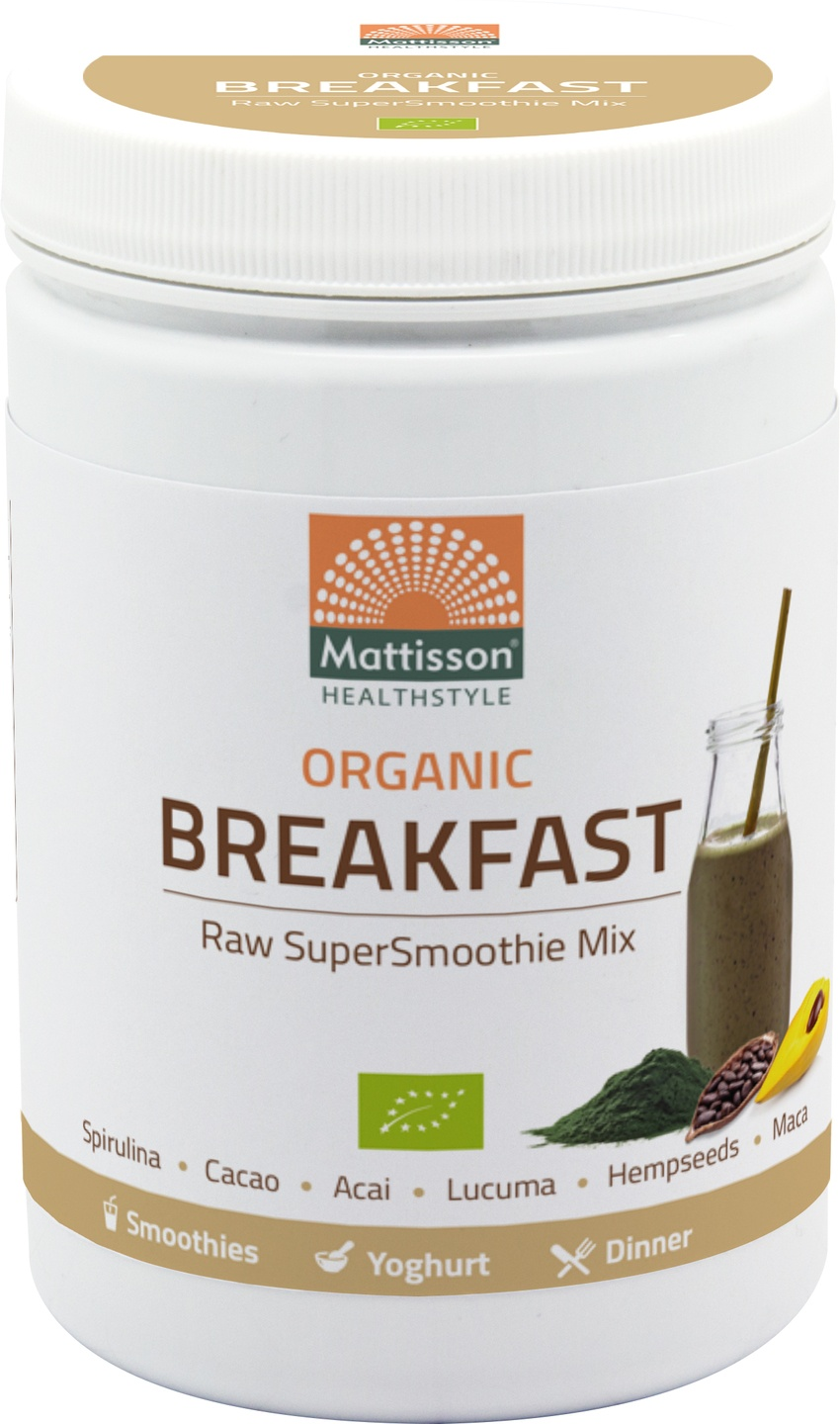 Biologische Mattisson Supersmoothie raw breakfast mix 300 gr