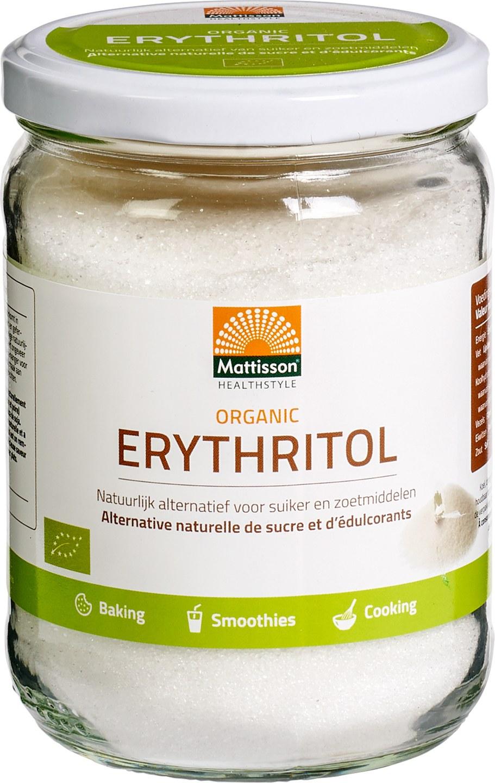 Biologische Mattisson Erythritol 400 gr