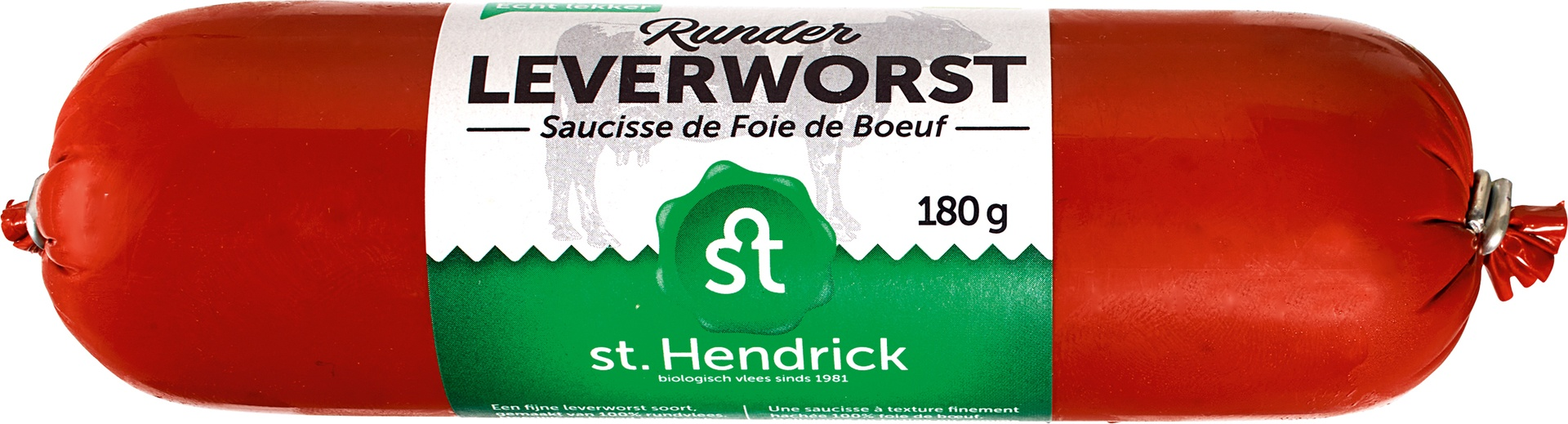 Biologische St. Hendrick Runderleverworst 180 gr