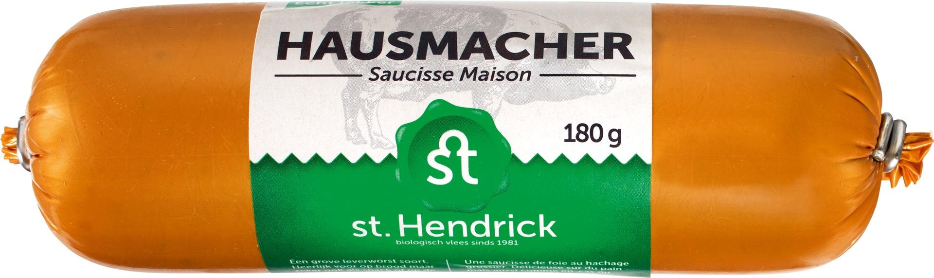 Biologische St. Hendrick Hausmacher leverworst 180 gr