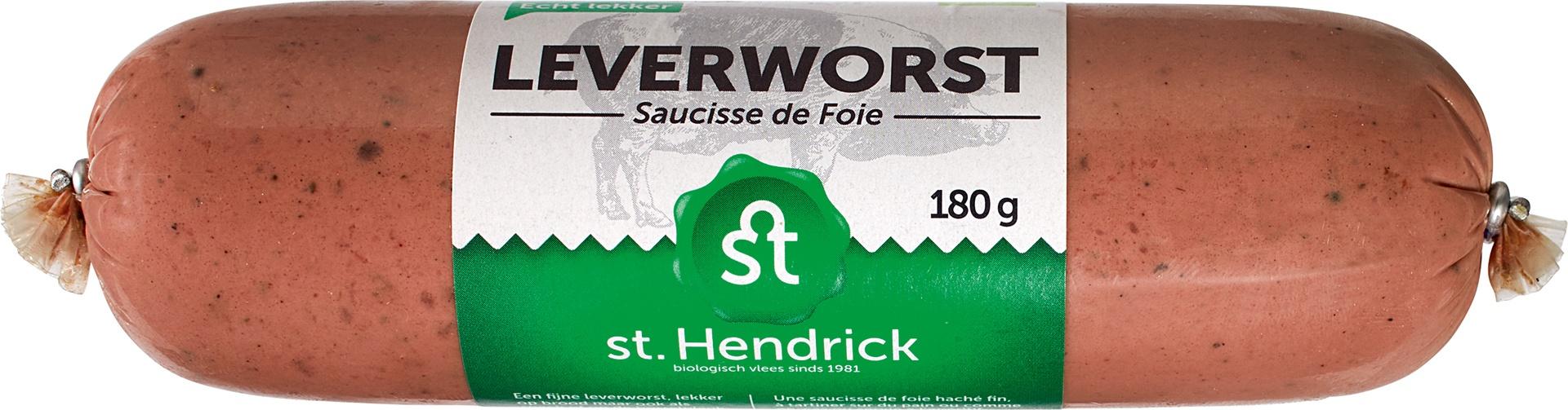 Biologische St. Hendrick Leverworst 180 gr