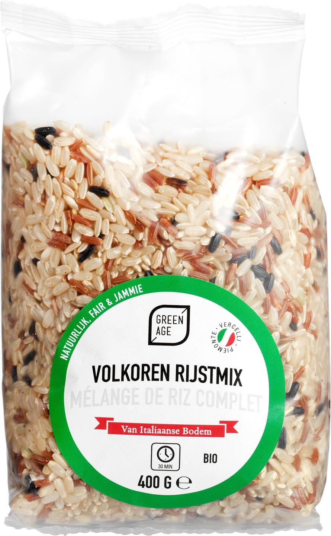 Biologische GreenAge Volkoren rijstmix 400 gr