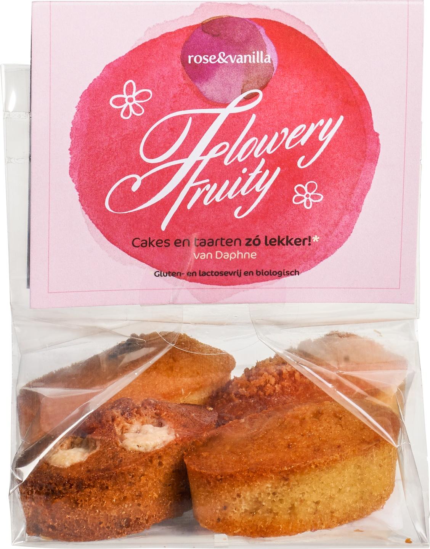 Biologische rose&vanilla Cakejes flowery fruity 4 st