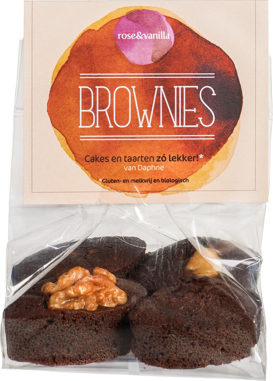Biologische rose&vanilla Cakejes brownies 4 st