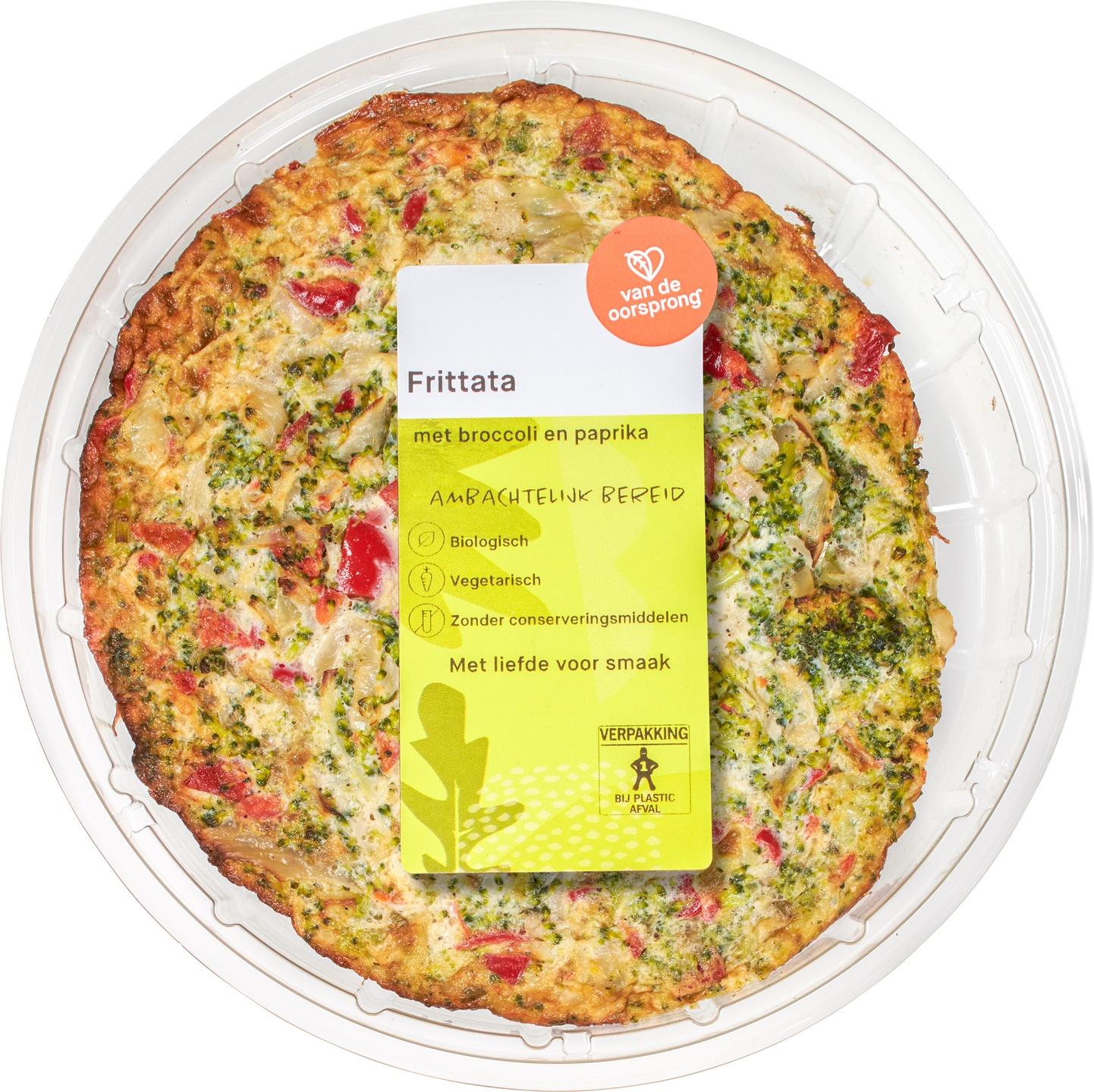 Biologische De Oorsprong Frittata met broccoli en paprika 350 gr