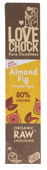 Biologische Lovechock RAW chocolade amandel/vijg 40 gr