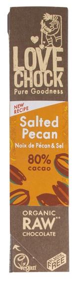 Biologische Lovechock RAW chocolade pecan/maca 40 gr
