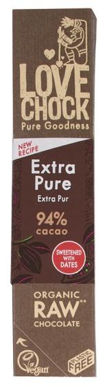 Biologische Lovechock RAW chocolade extra puur 94% 40 gr