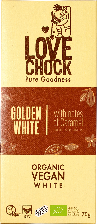Biologische Lovechock RAW chocolade wit karamel 70 g