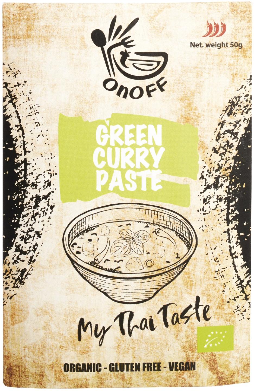 Biologische onoff spices! Thaise groene currypasta 50 gr