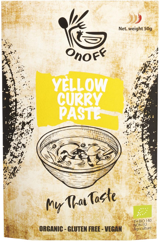 Biologische onoff spices! Thaise gele currypasta 50 gr