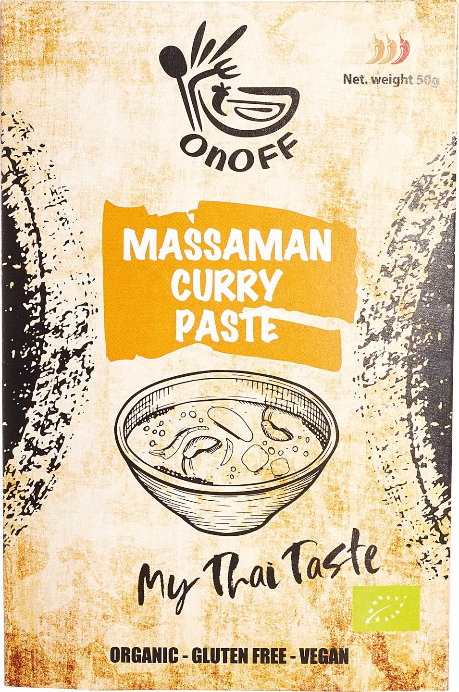 Biologische onoff spices! Thaise massaman currypasta 50 gr