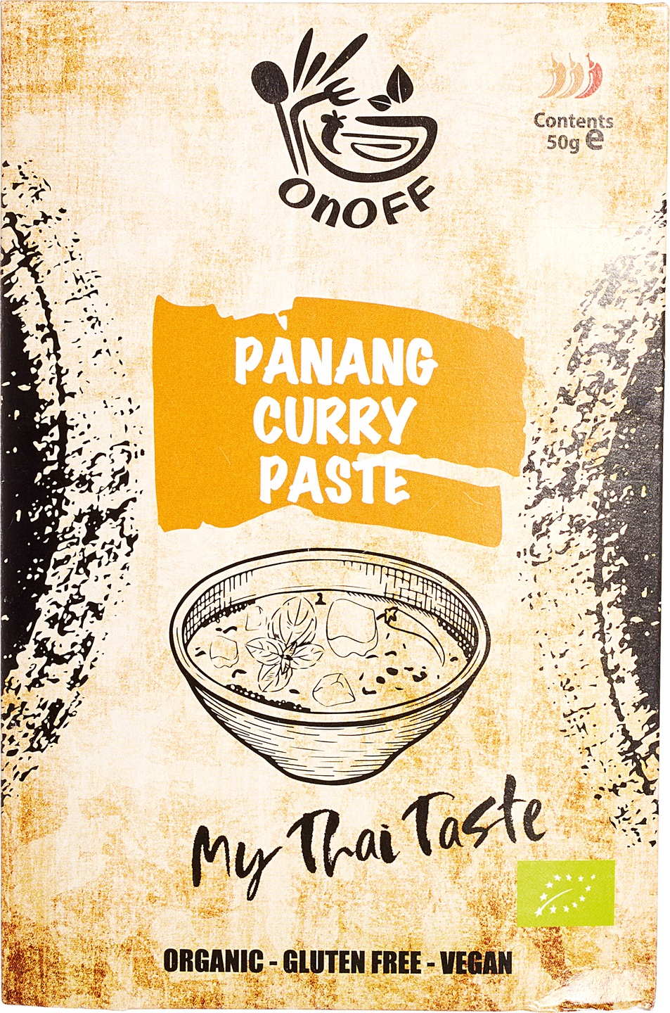 Biologische onoff spices! Thaise penang curry pasta 50 gr