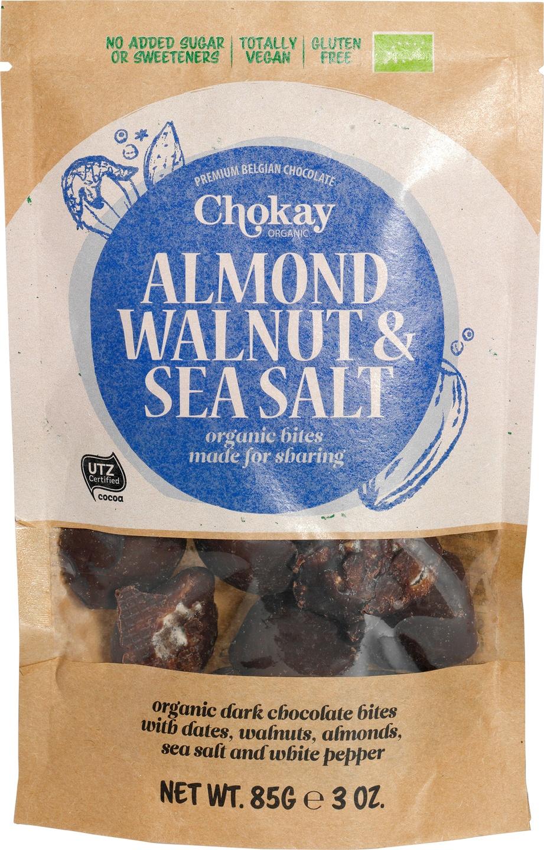 -20% SALE | Biologische Chokay Walnoot amandel zeezout 85 gr