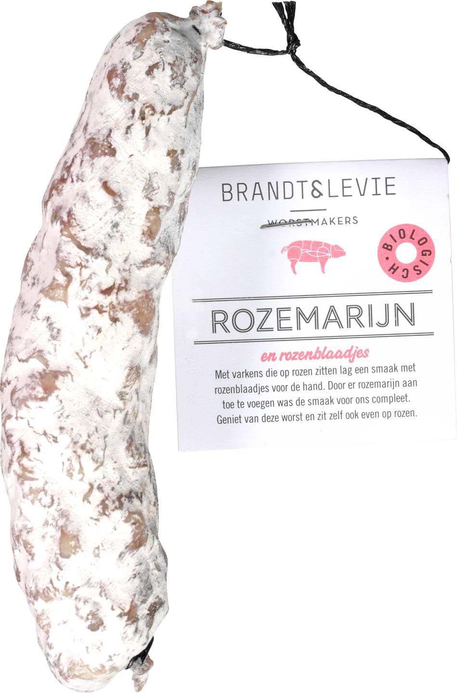 Biologische Brandt & Levie Droge worst rozemarijn 150 gr
