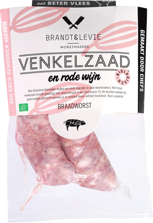 Biologische Brandt & Levie Verse worst venkelzaad 220 gr