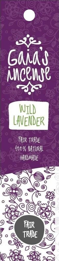 Biologische Gaia's incense Wierook wild lavender 15 st
