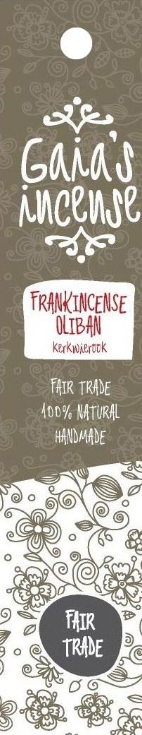 Biologische Gaia's incense Wierook frankincense oliban 15 st