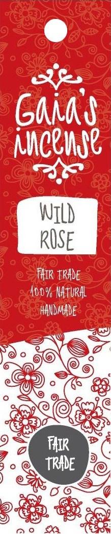 Biologische Gaia's incense Wierook wild rose 15 st