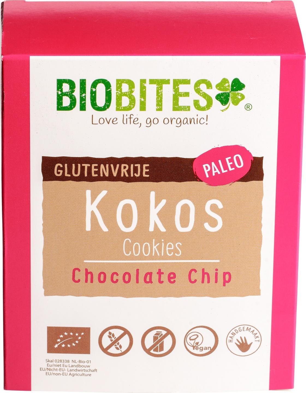 Biologische Biobites Kokos Cookies Chocolate Chip 65 gr