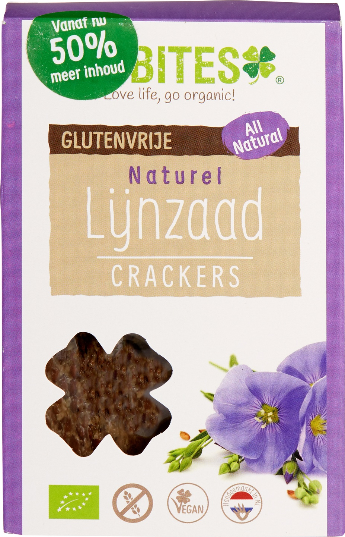 Biologische Biobites Lijnzaadcrackers naturel 90 gr