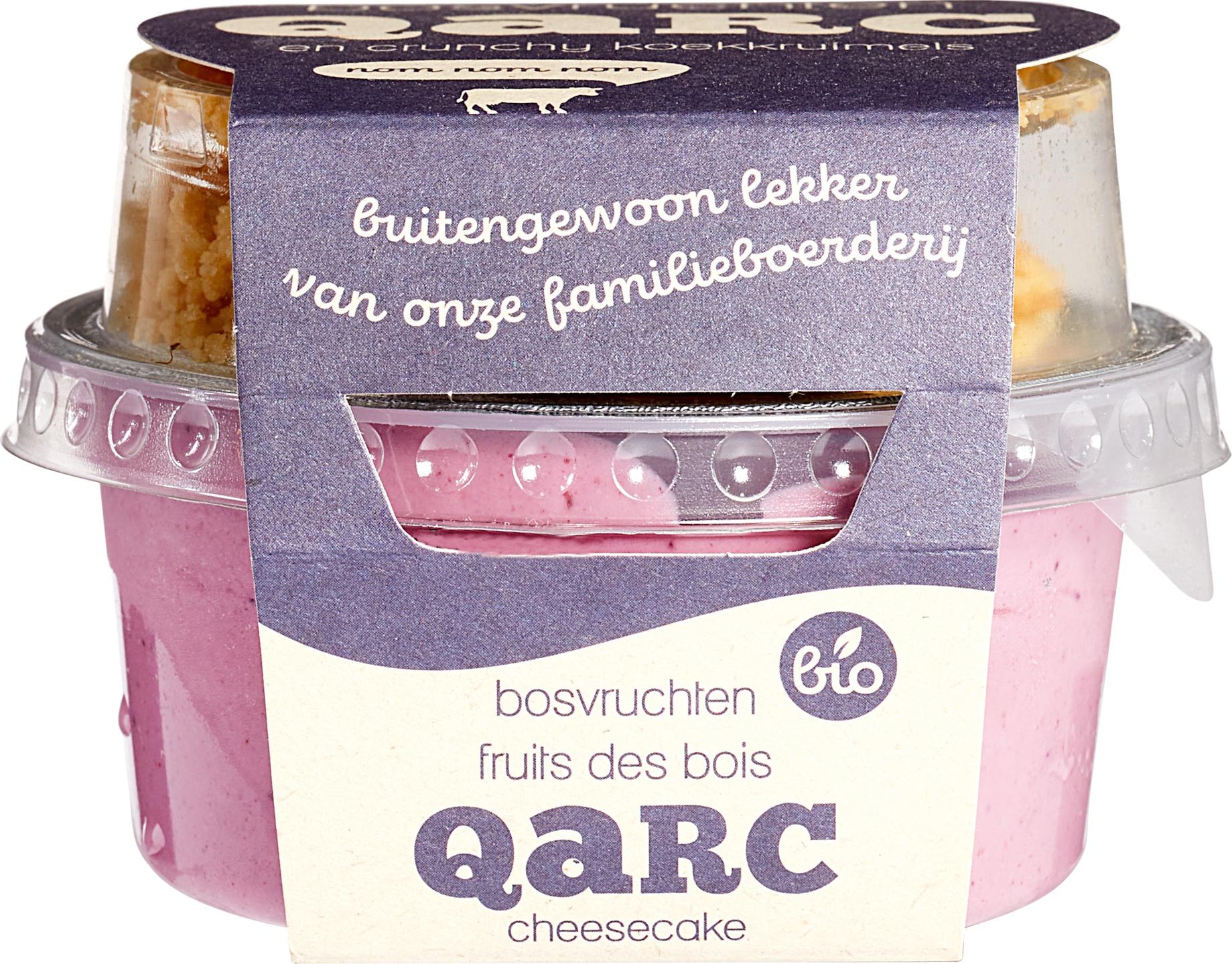 Biologische Qarc Bosvruchtenkwark met koekkruimels 135 gr