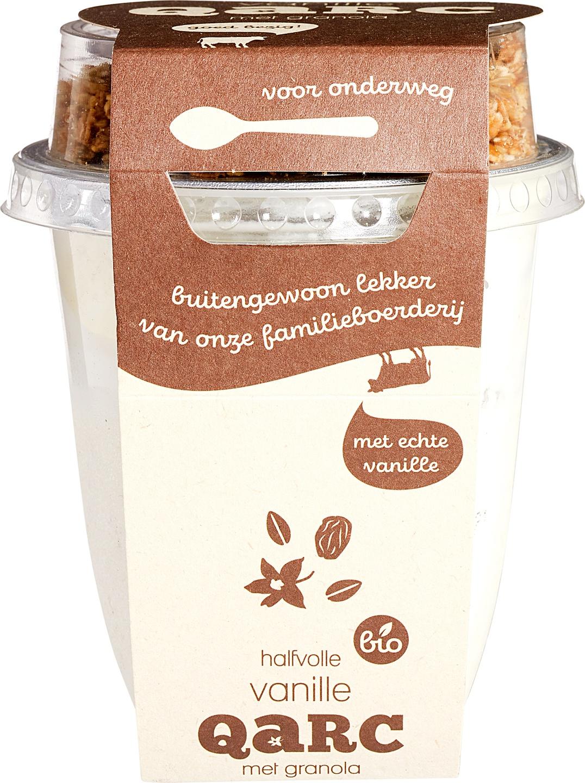 Biologische Qarc Halfvolle vanillekwark granola 250 gr