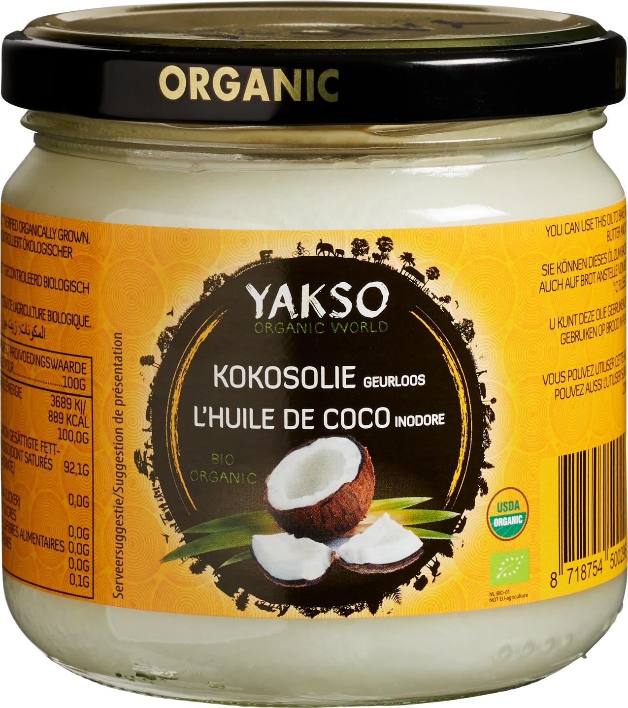 Biologische Yakso Kokosolie geurloos 320 ml