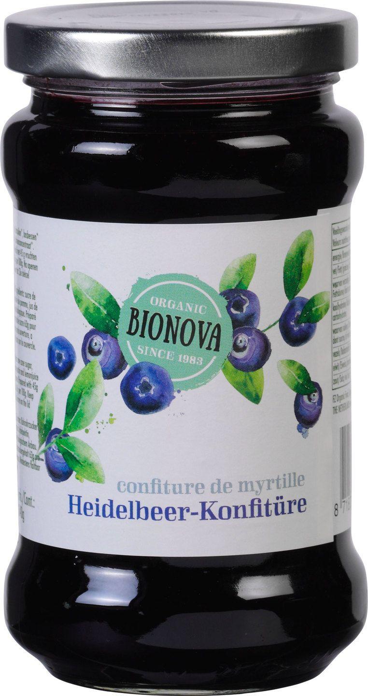 Biologische Bionova Bosbessenjam 340 gr