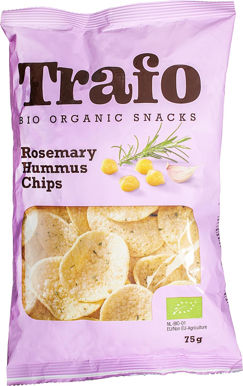Biologische Trafo Hummus chips rozemarijn 75 gr