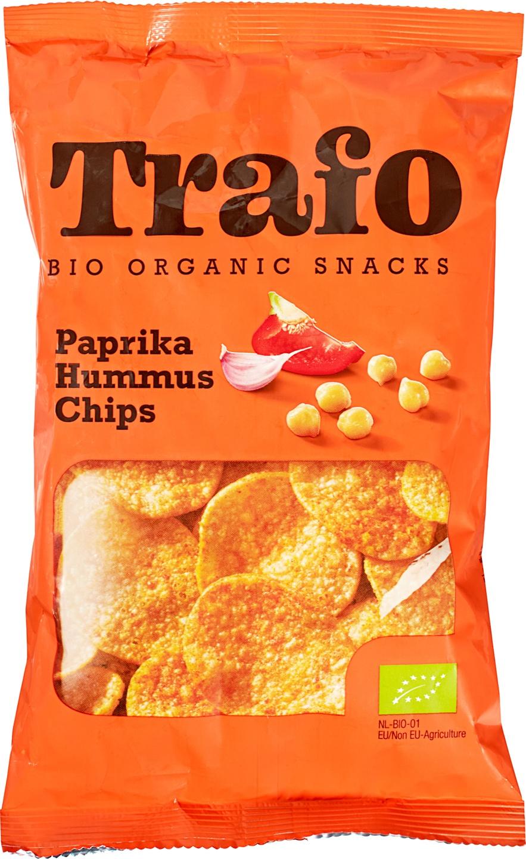 Biologische Trafo Hummus chips paprika 75 gr