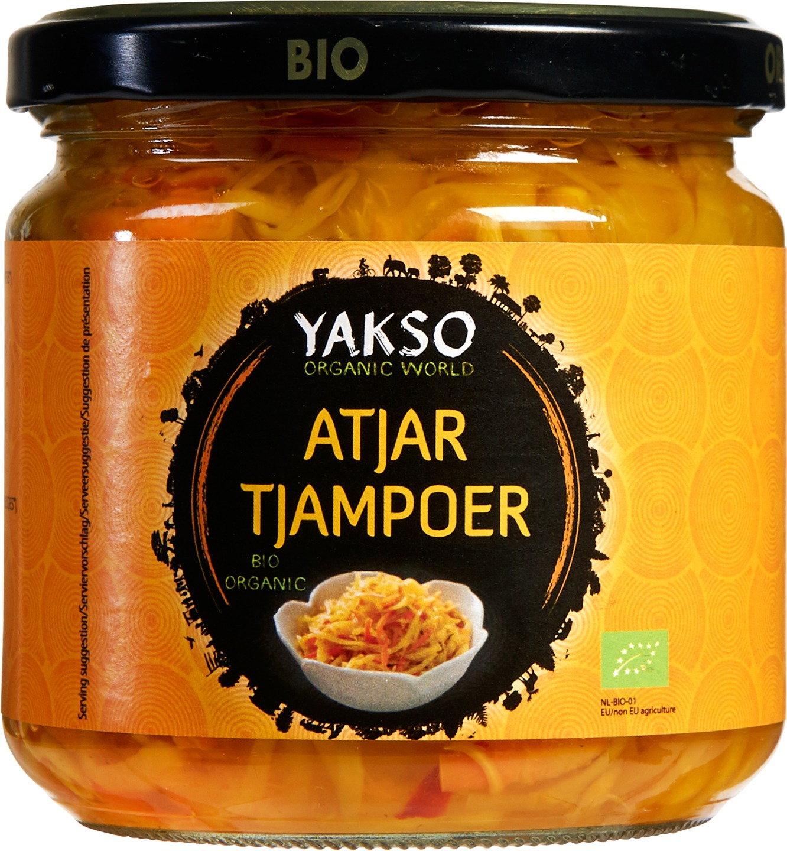 Biologische Yakso Atjar Tjampoer 330 gr