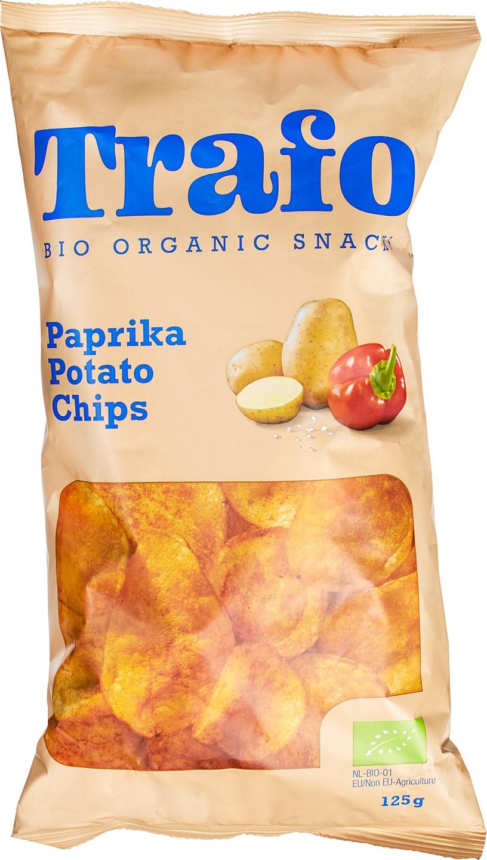 Biologische Trafo Aardappelchips paprika 110 gr