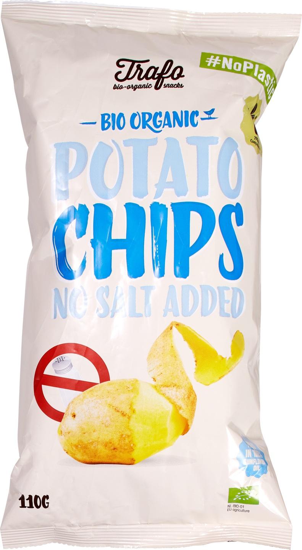 Biologische Trafo Aardappelchips naturel ongezouten 110 gr