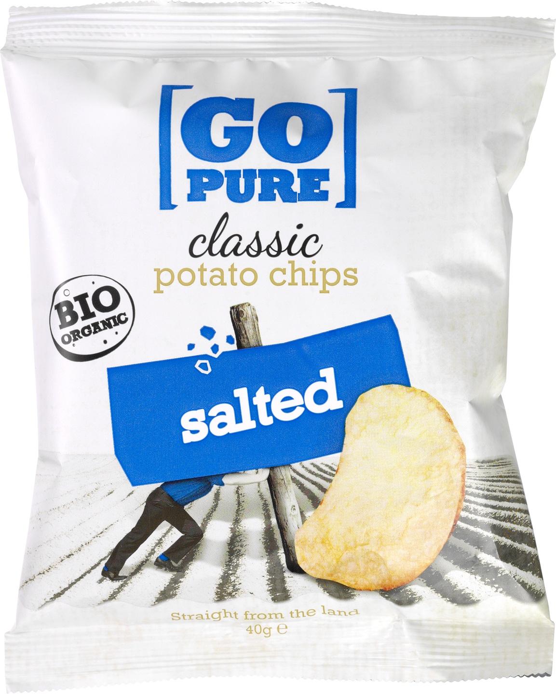 Biologische Go pure Chips naturel salted 40 gr