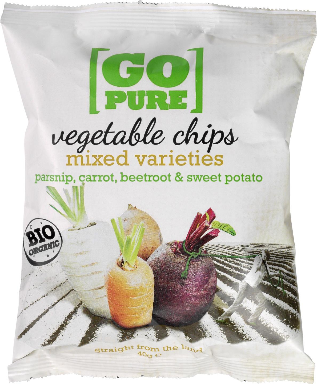 Biologische Go pure Vegetable chips 40 gr