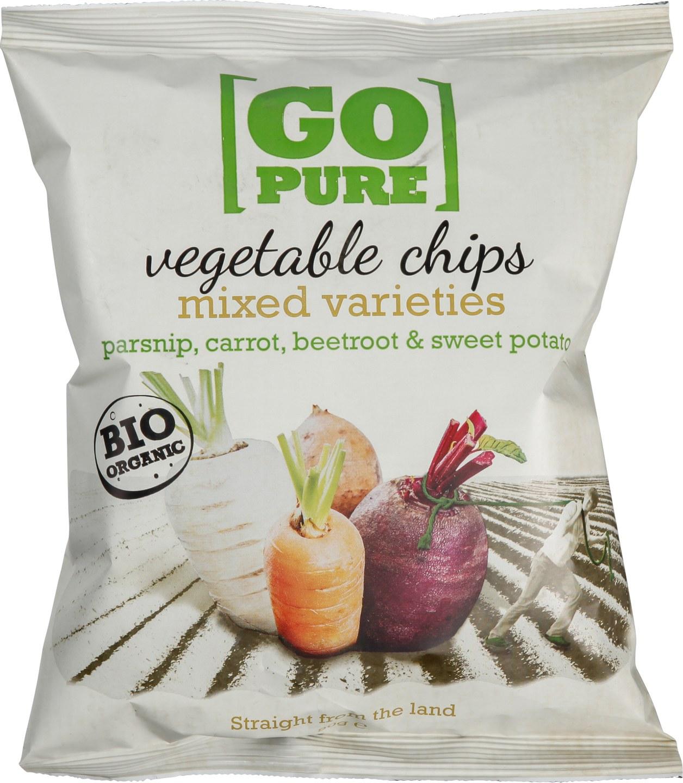 Biologische Go pure Vegetable chips 90 gr