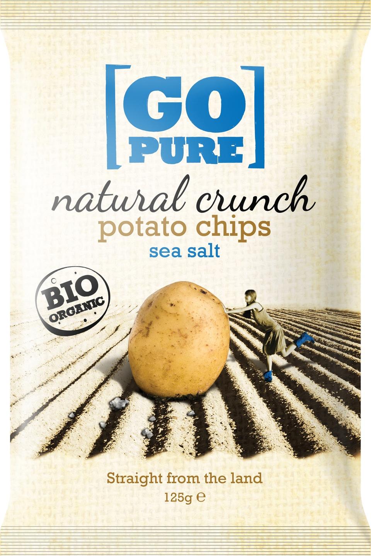 -21% SALE | Biologische Go pure Natural crunch chips sea salt 125 gr