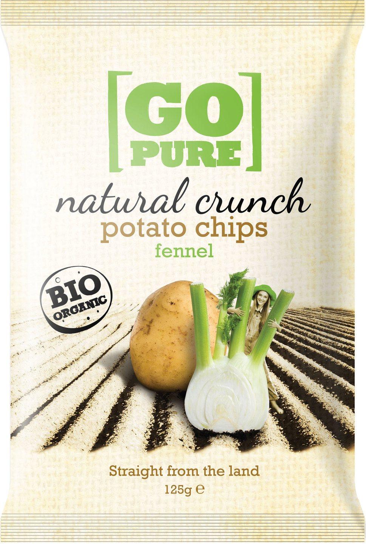 -21% SALE | Biologische Go pure Natural crunch chips fennel 125 gr