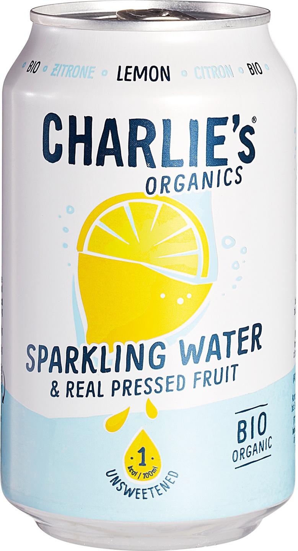 Biologische Charlie's Sparkling water lemon 330 ml