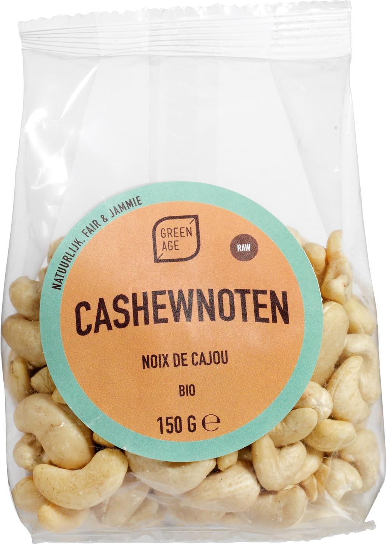 Biologische GreenAge Cashewnoten raw 150 gr